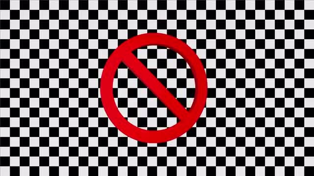 No Or Prohibited Symbol: Stock Motion Graphics