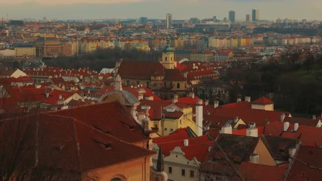 The Old Town of Prague, Czech Republic : Stock Video