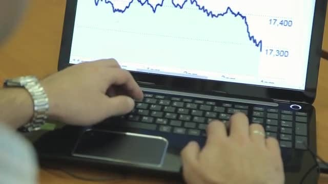 Man Working On Laptop: Stock Video