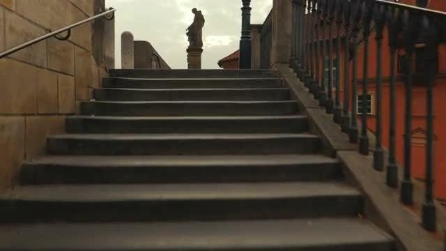 Charles Bridge in Prague: Stock Video