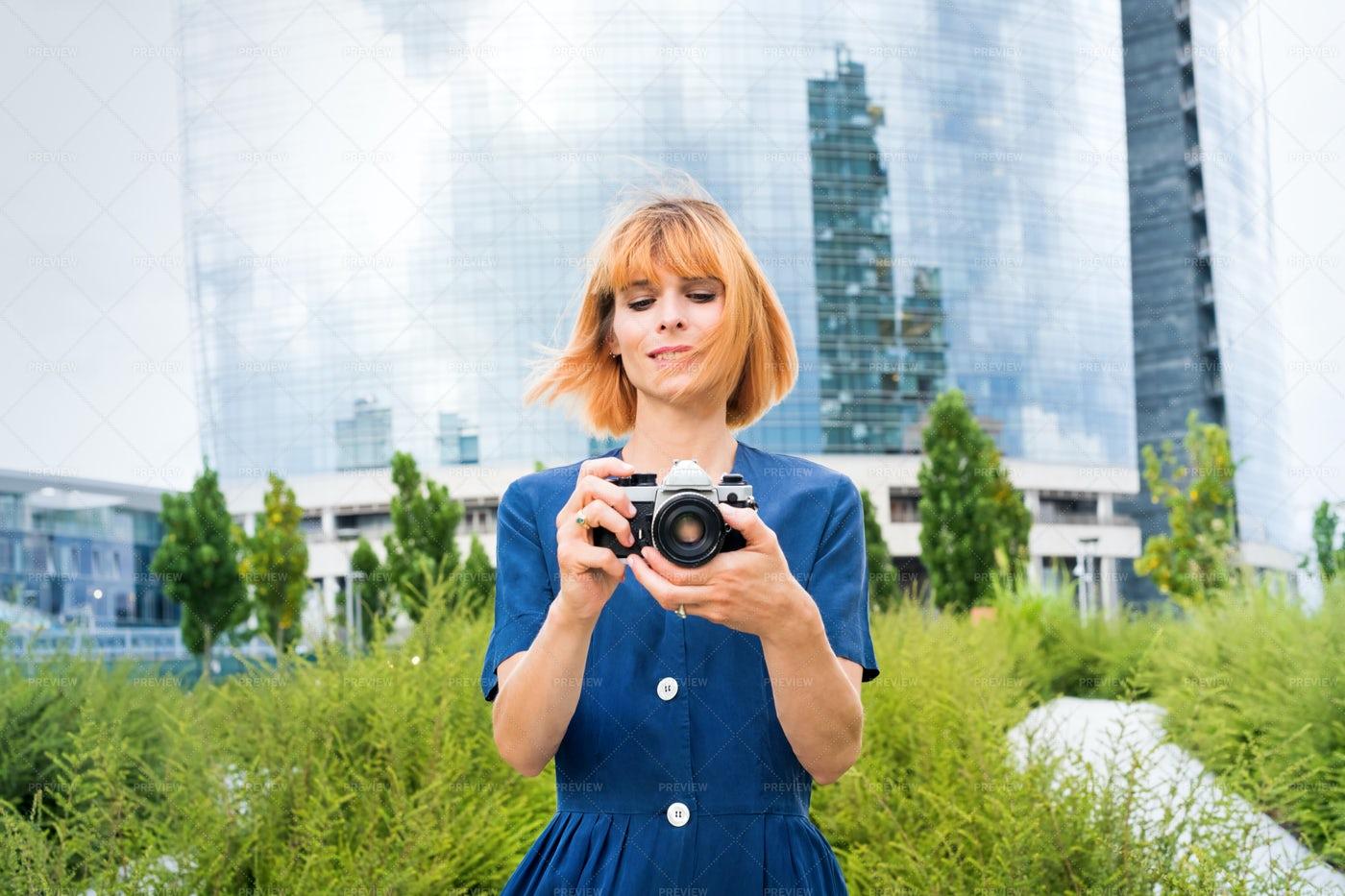 Taking Photos In The City: Stock Photos