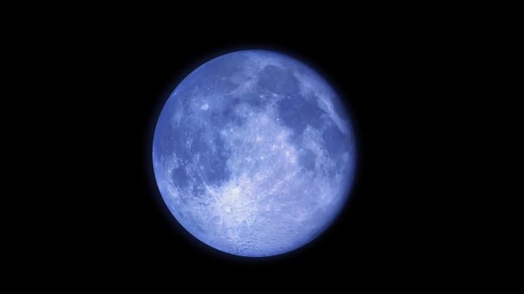 Blue Moon Time Lapse : Stock Motion Graphics