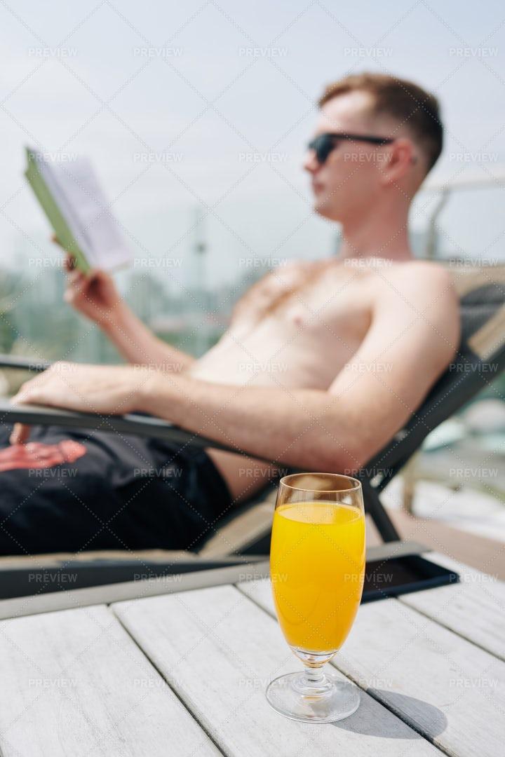 Glass Of Refreshing Orange Juice: Stock Photos