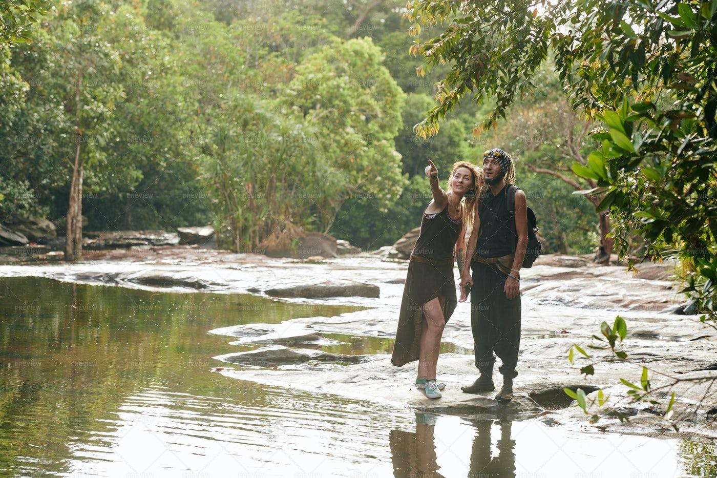 Hikers Enjoying Nature: Stock Photos