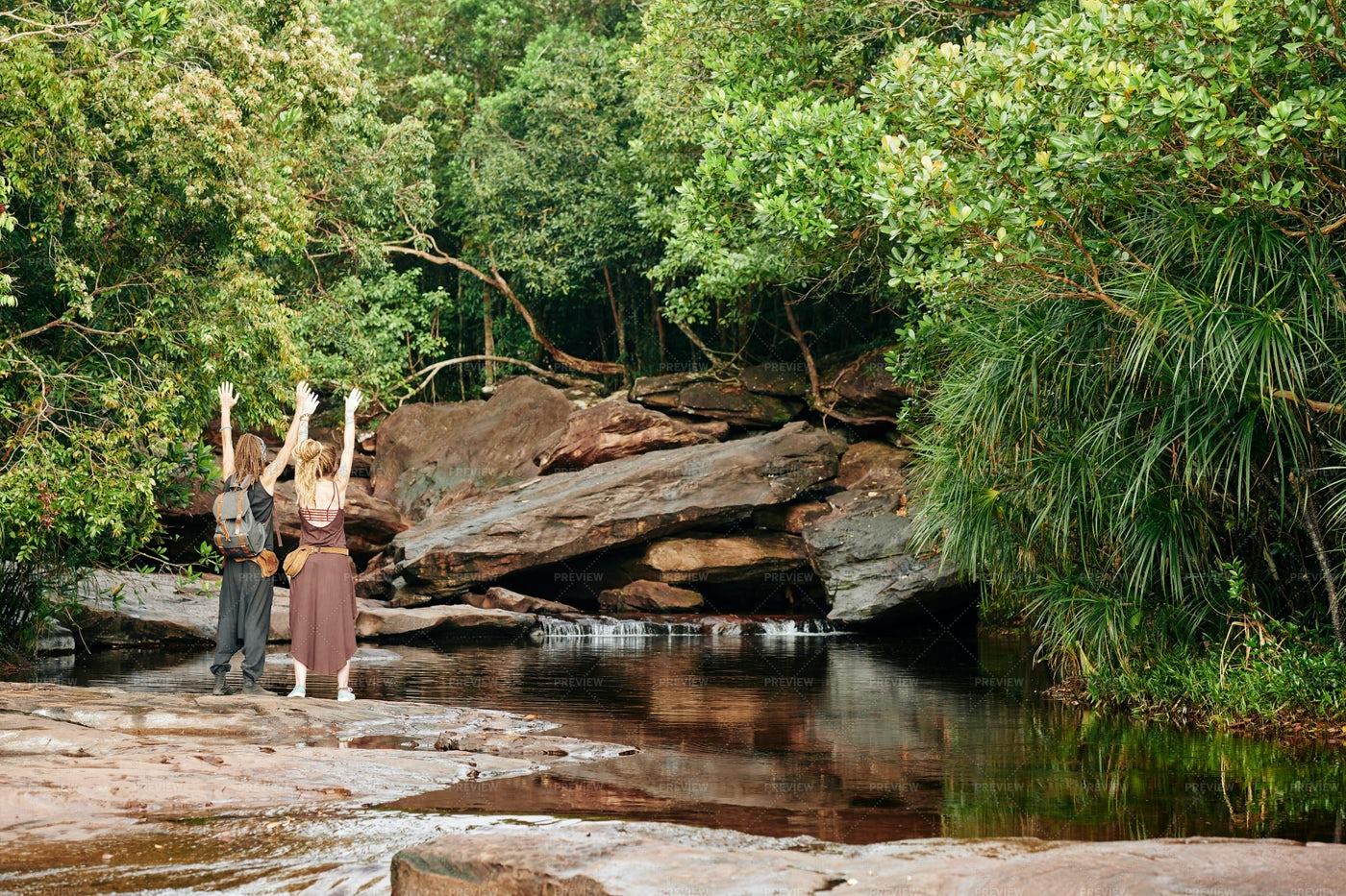 Couple Enjoying Nature: Stock Photos