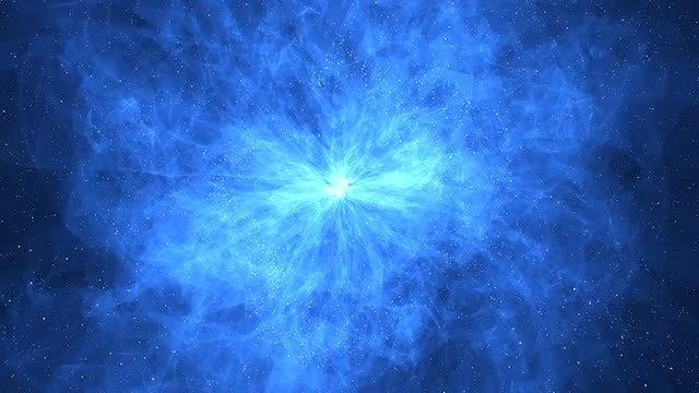 Blue Color Nebula: Stock Motion Graphics