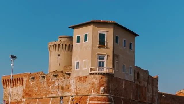 The Old Fortress - Livorno, Italy: Stock Video