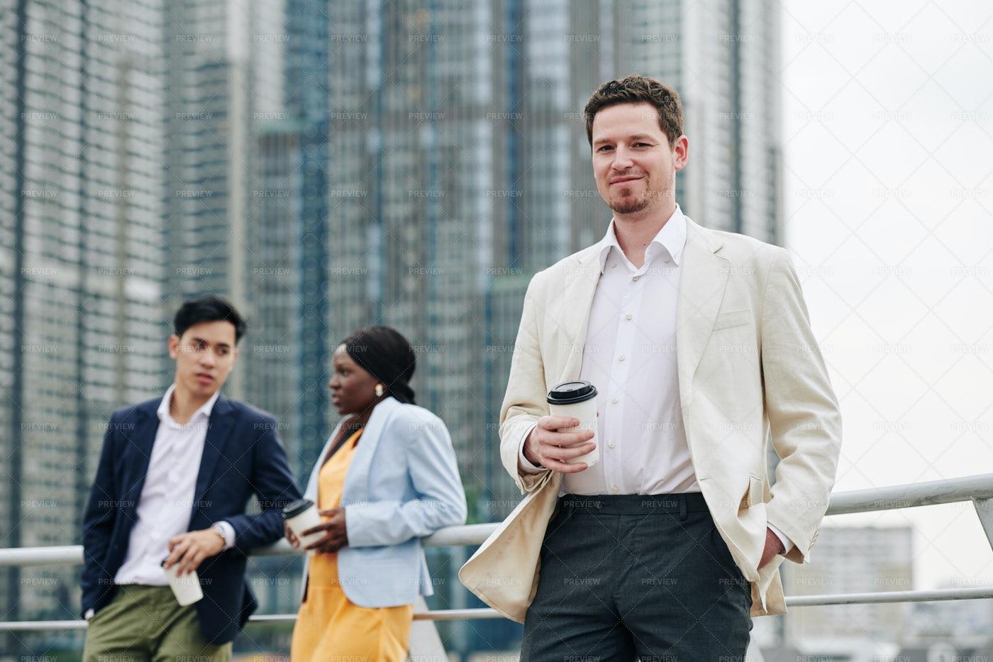 Smiling Confident Young Entrepreneur: Stock Photos