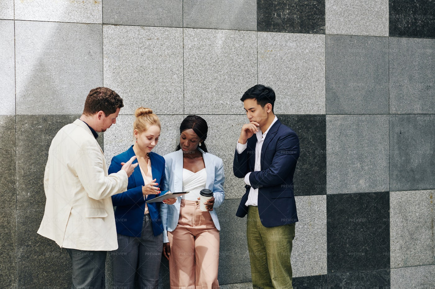 Business People Discussing Article: Stock Photos