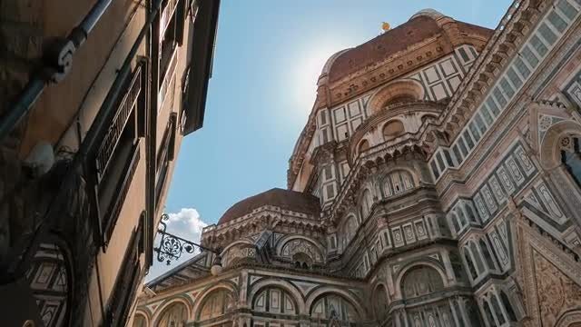 POV Shot Towards Florence Cathedral, Italy: Stock Video