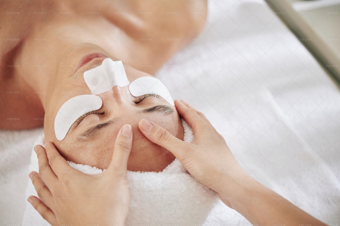 Anti-aging Massage: Stock Photos
