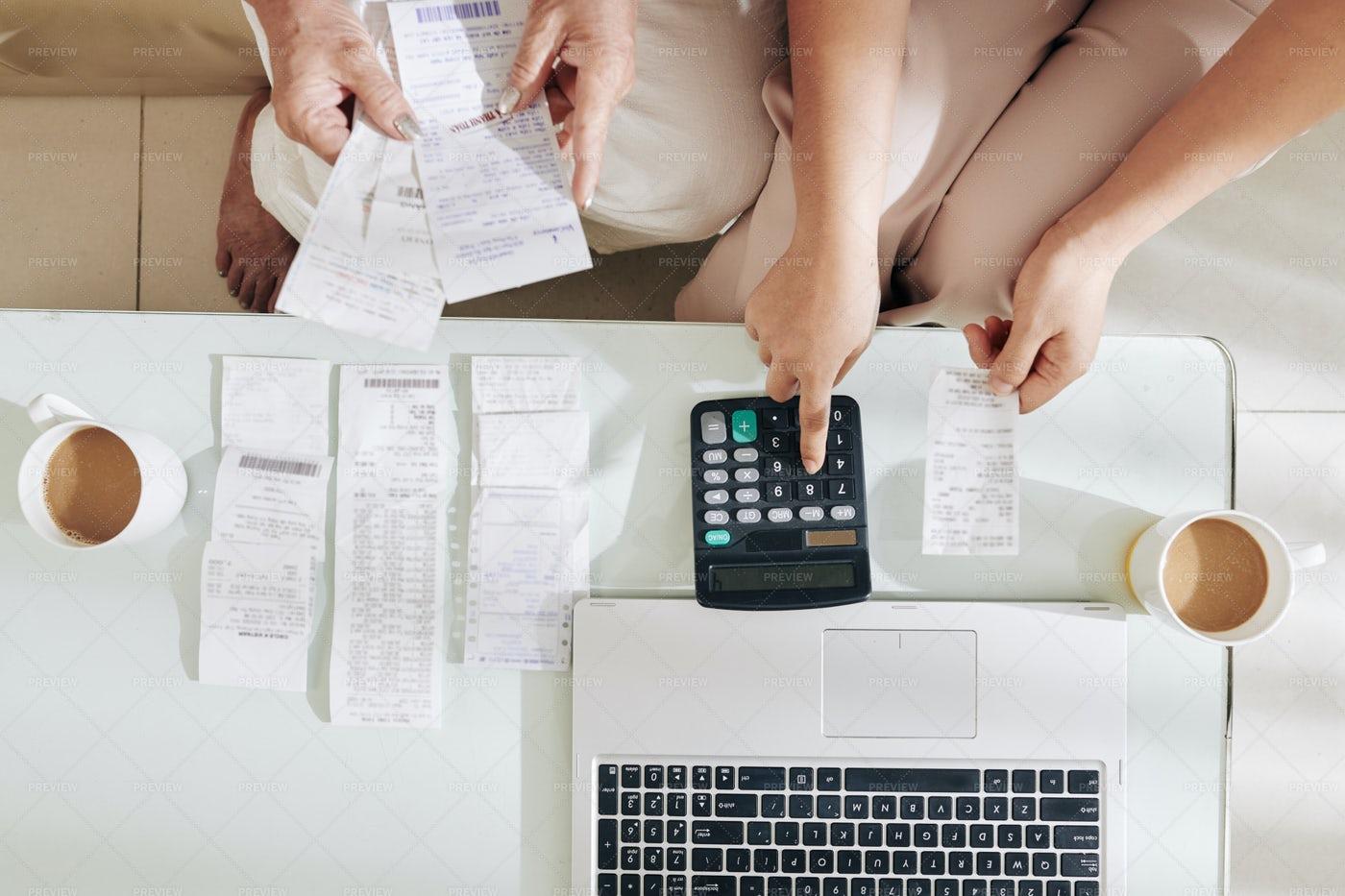Checking Home Finances: Stock Photos