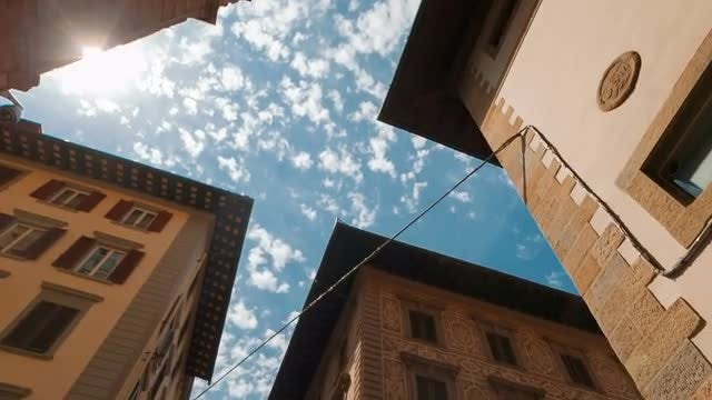 Florence Old Town In Italy: Stock Video