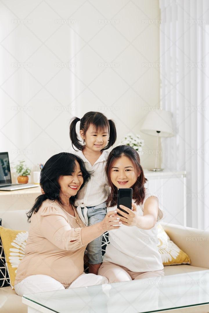 Family Selfie: Stock Photos