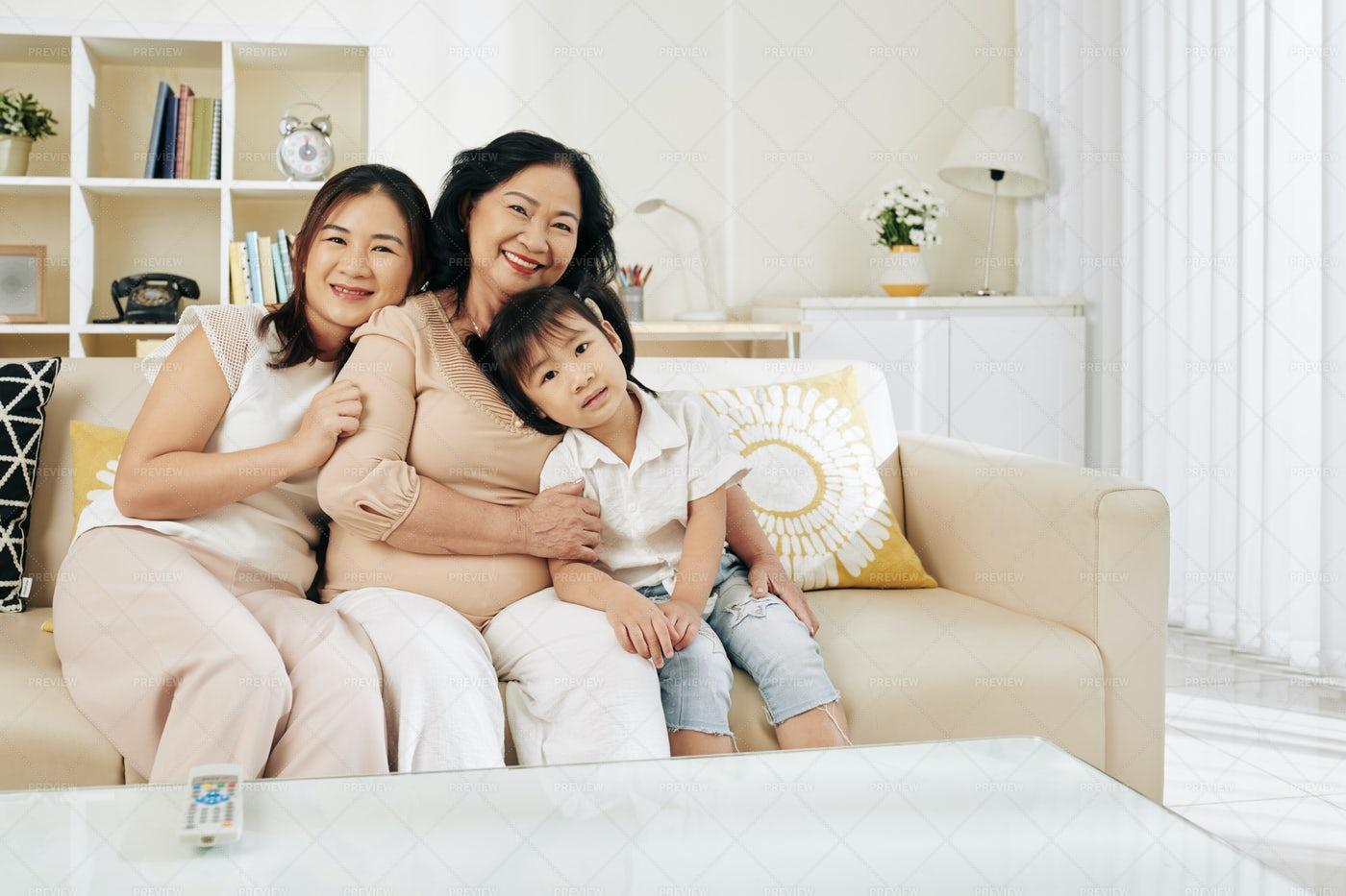 Three Generation Of Women: Stock Photos