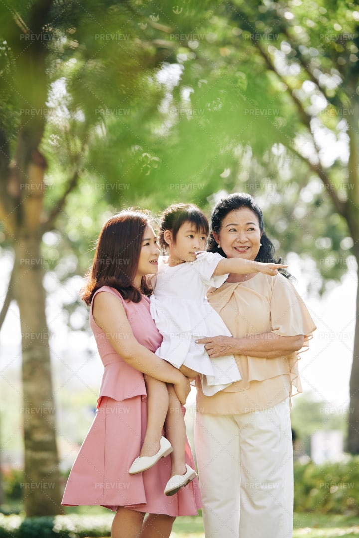 Three Women Generation: Stock Photos