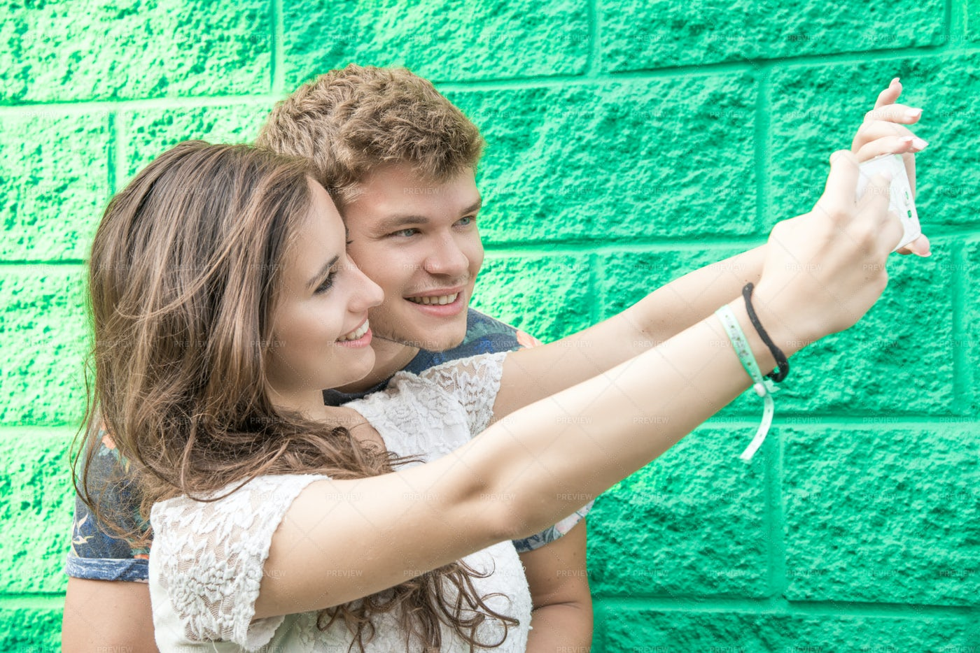 Young Couple Taking A Selfie: Stock Photos