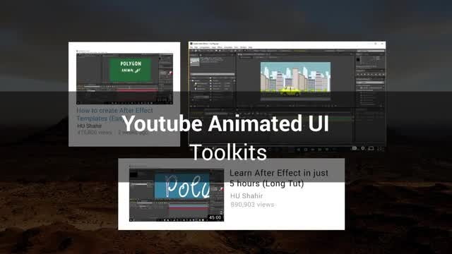 Youtube Animated UI Toolkit: After Effects Templates