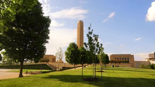 Memorial Hill, Kansas Time Lapse: Stock Video