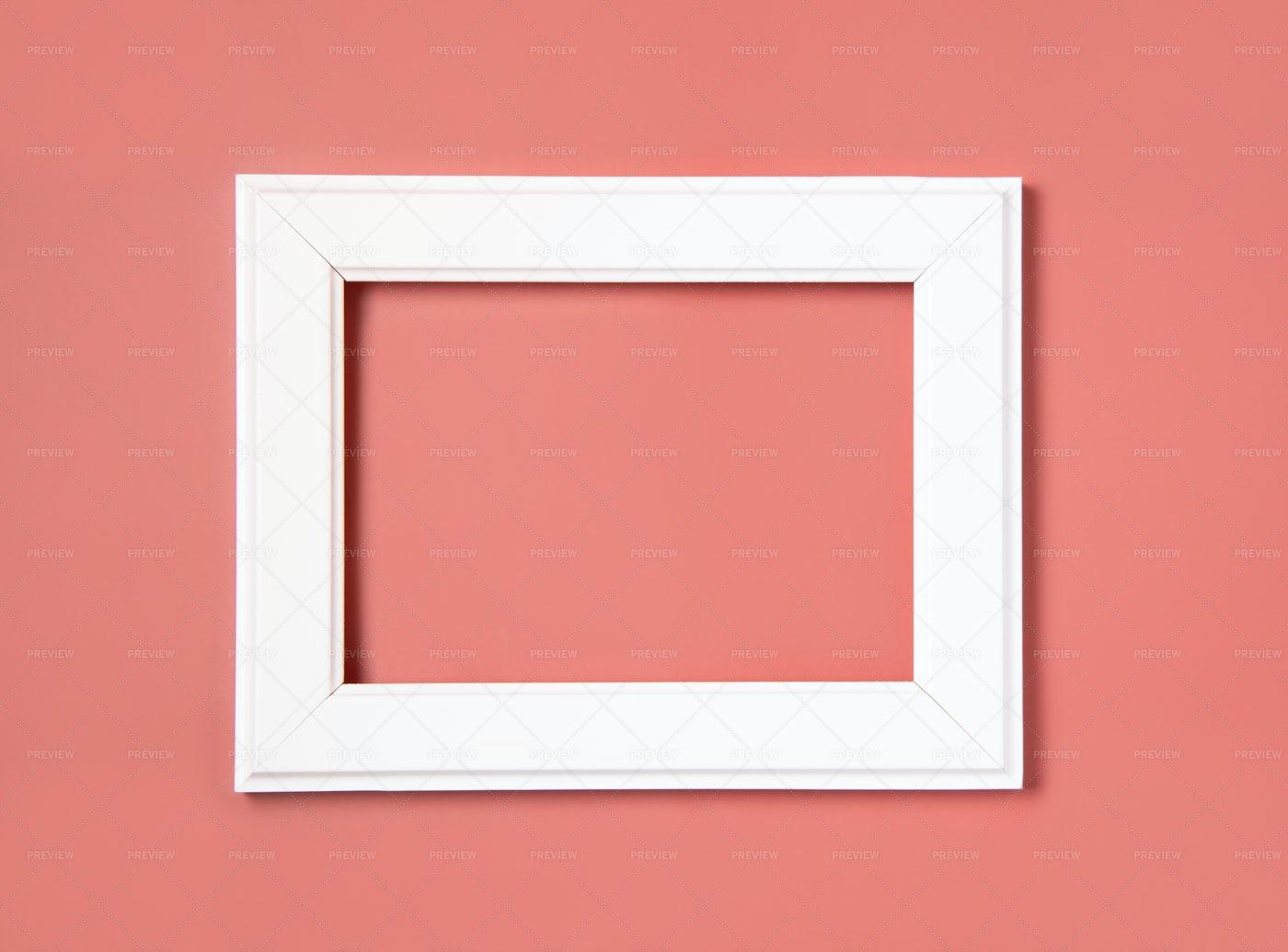 White Frame On The Pink: Stock Photos