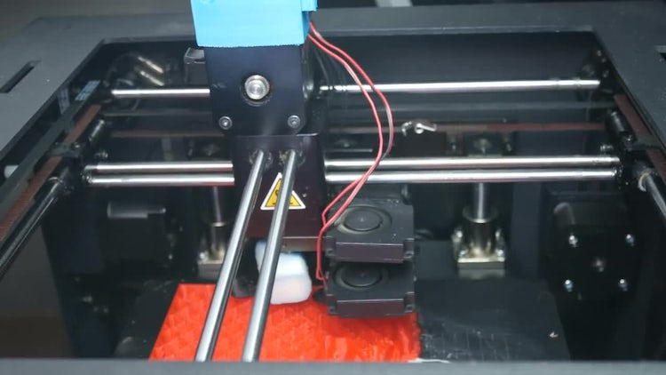 Mechanisms Of Printing 3D Printer: Stock Video