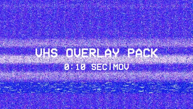 VHS Overlay Pack/Colorful TV Damage Pack: Stock Motion Graphics