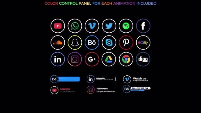 Social Icons & Lower Thirds: After Effects Templates