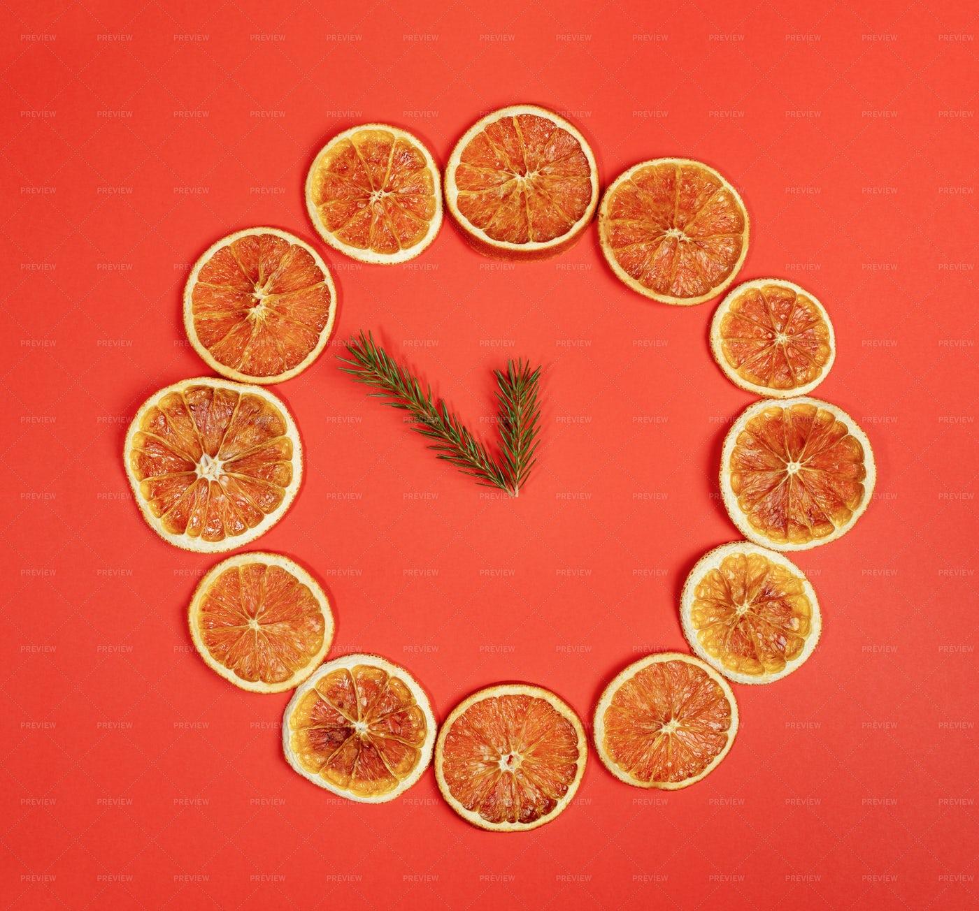 Orange Clock: Stock Photos