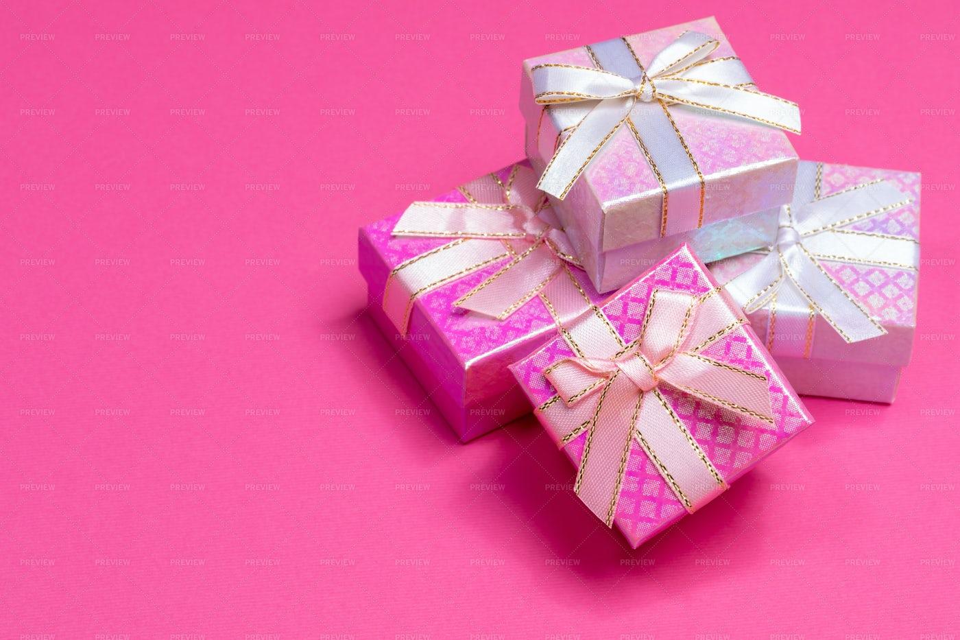 Shiny Gift Boxes: Stock Photos