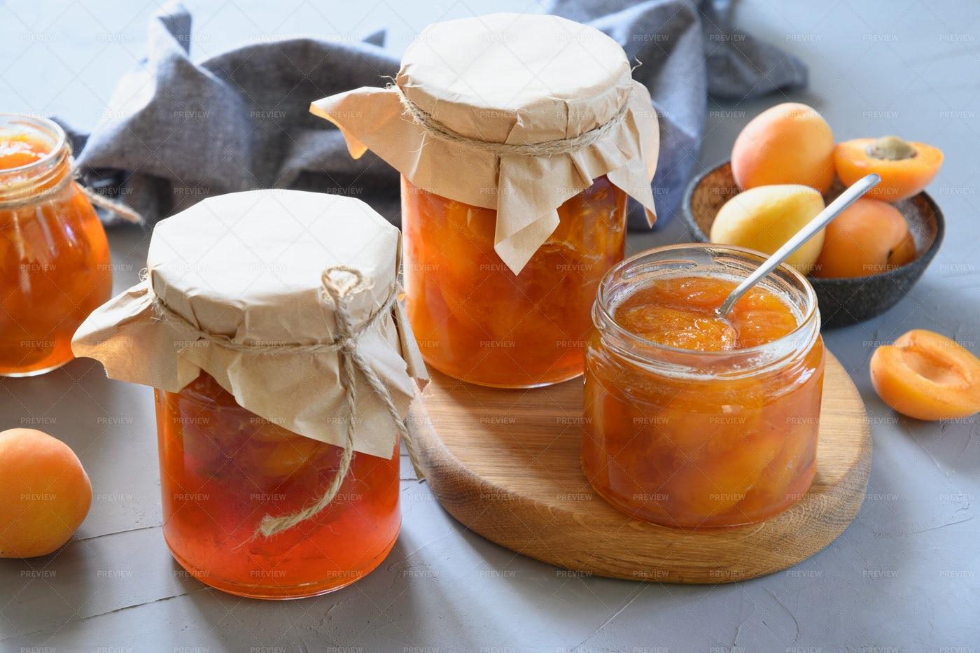 Apricot Jam: Stock Photos