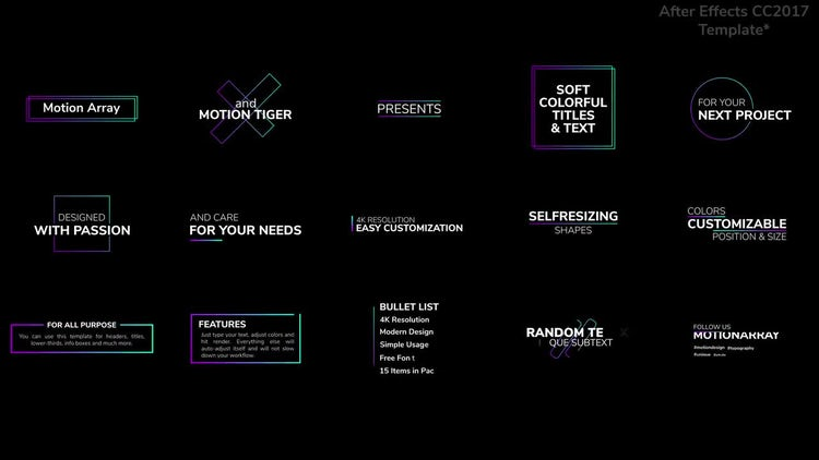 Soft Colorful Titles and Text: After Effects Templates