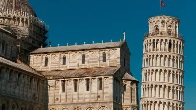 Piazza Dei Miracoli And Pisa Leaning Tower, Italy: Stock Video