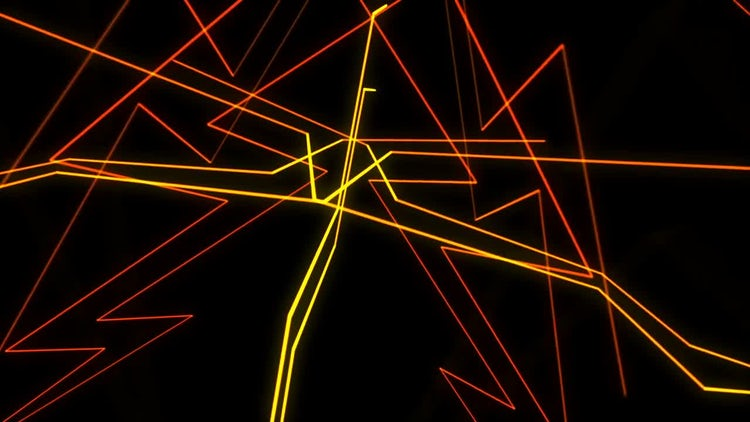 Abstract Random 3D Lines: Stock Motion Graphics