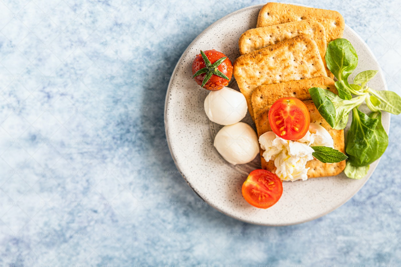 Crackers And Cheese: Stock Photos
