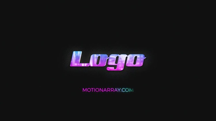 Modern Neon And Metal Logo: After Effects Templates