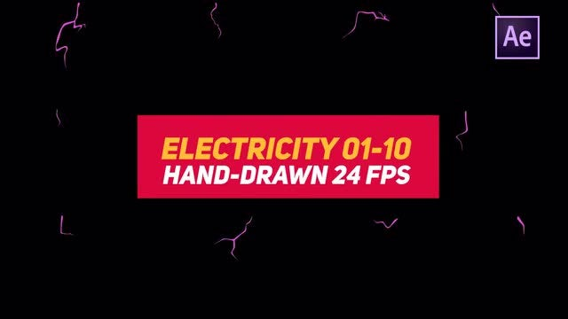 Liquid Elements 3 Electricity 01-10: After Effects Templates
