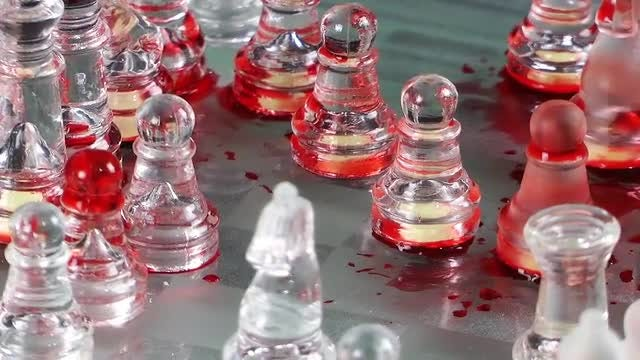 Bloody Pieces Of Chess: Stock Video