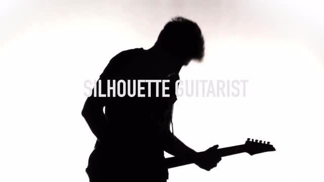 Silhouette Guitarist Pack: Stock Video