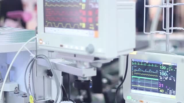 Advanced Medical Monitors: Stock Video