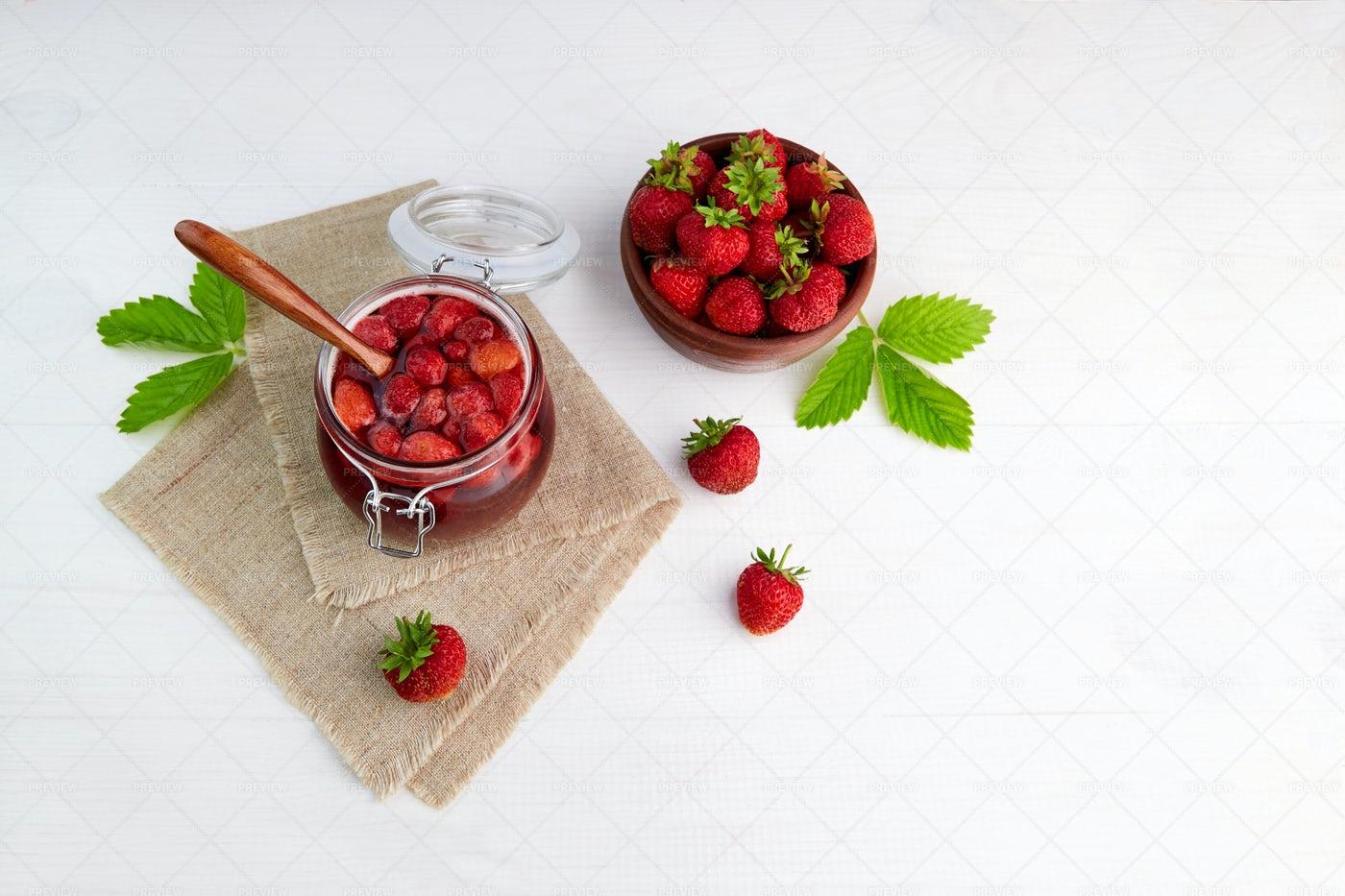 Homemade Strawberry Jam: Stock Photos