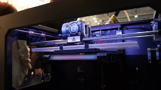 3D Printer Forming New Item: Stock Video