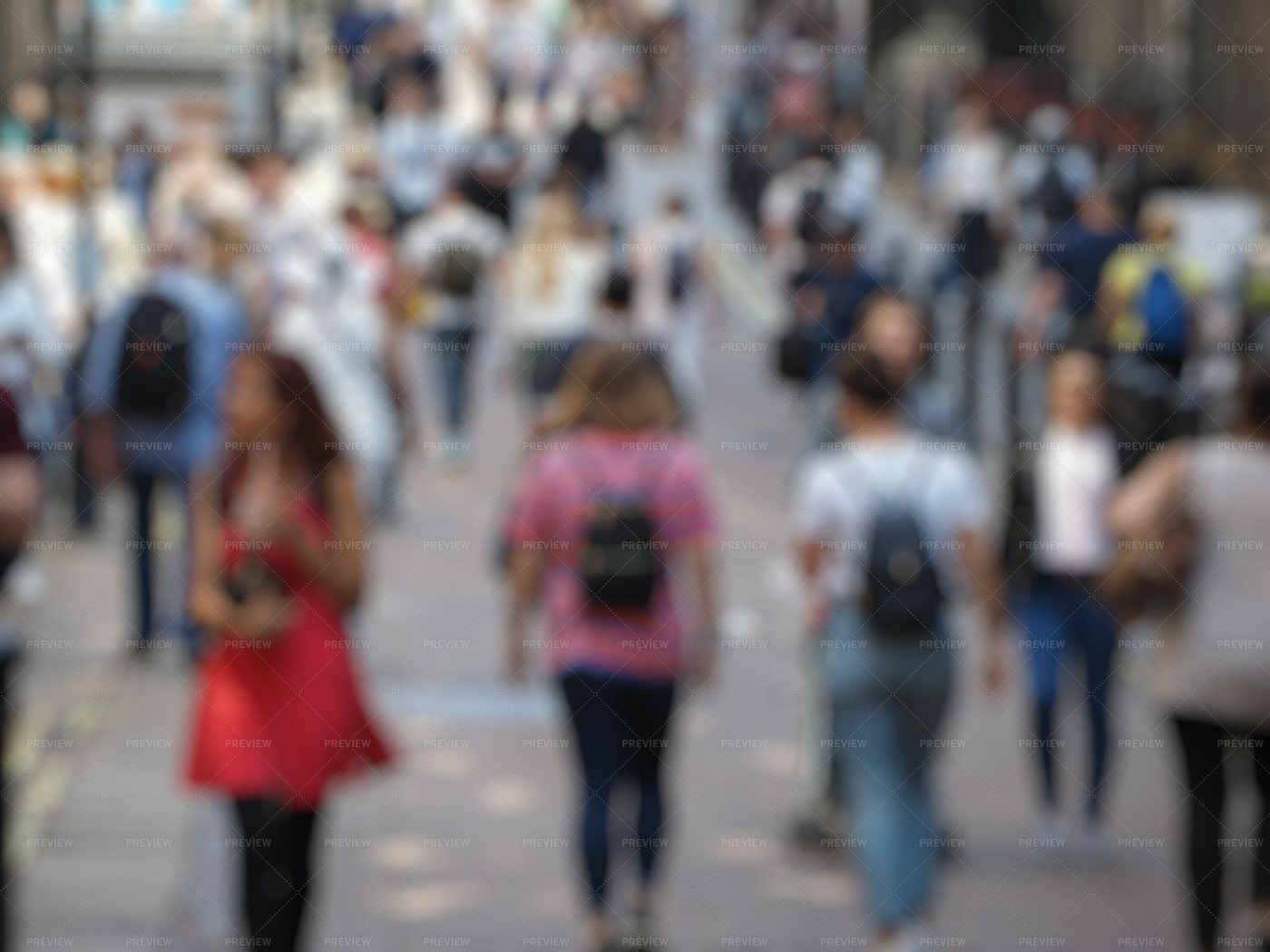 Unrecognizable Blurred People: Stock Photos