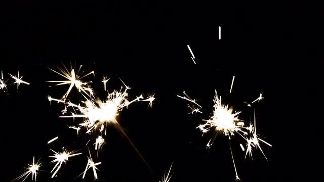 Sparkling Fireworks: Stock Video