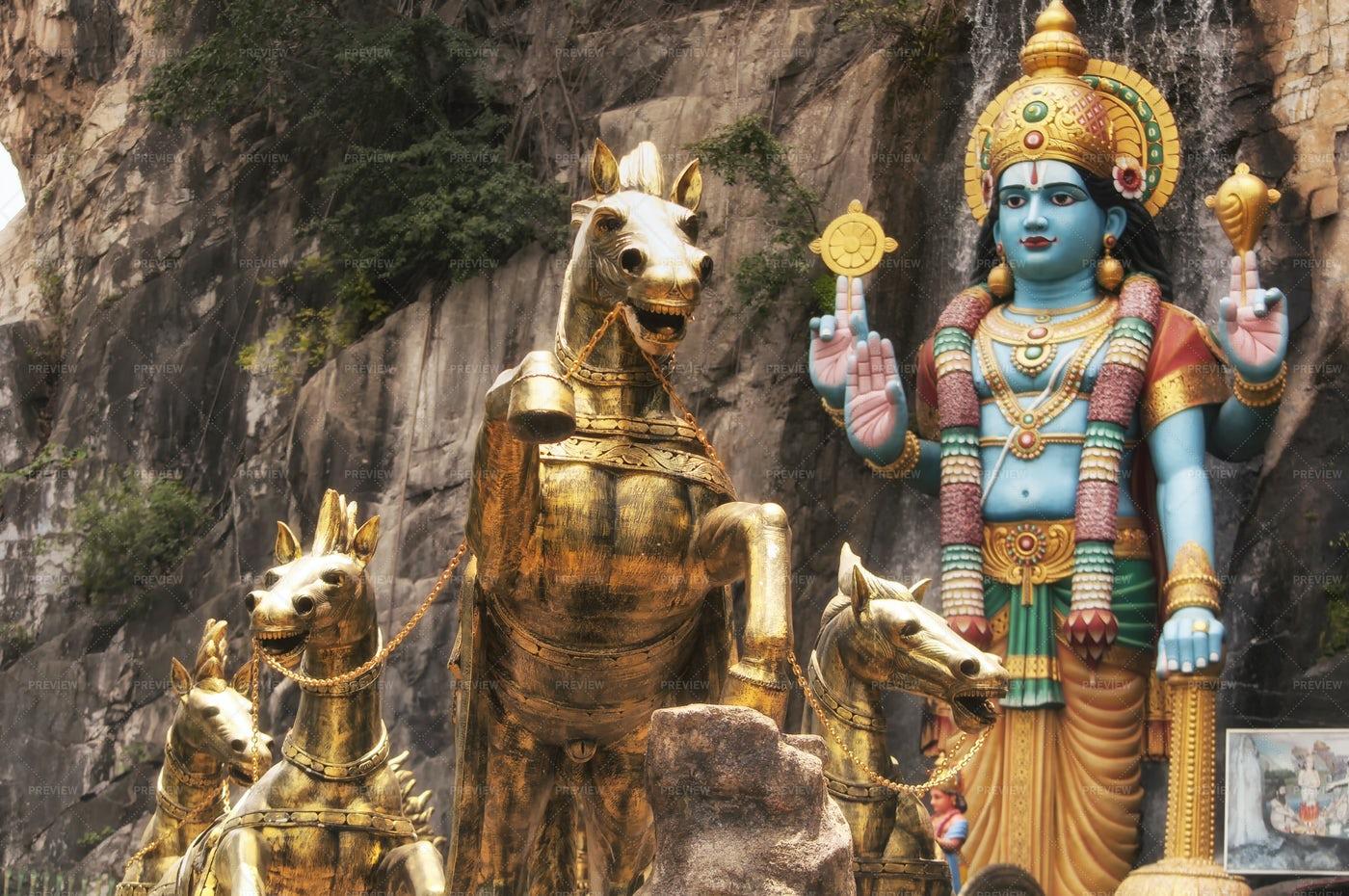 Lord Krishna Ramayana Cave Malaysia: Stock Photos
