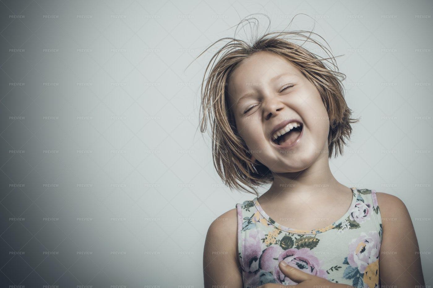Little Girl With Short Hair: Stock Photos