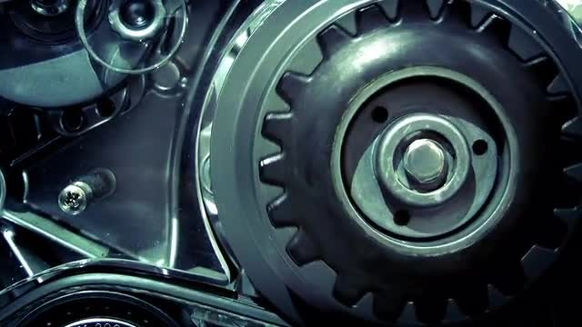 Car Engine Gears Rotating : Stock Video