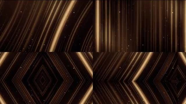 Gold Outlines And Sparkles Pack: Stock Motion Graphics