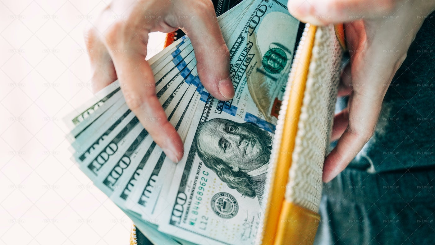 Hands Holding USA Dollars: Stock Photos