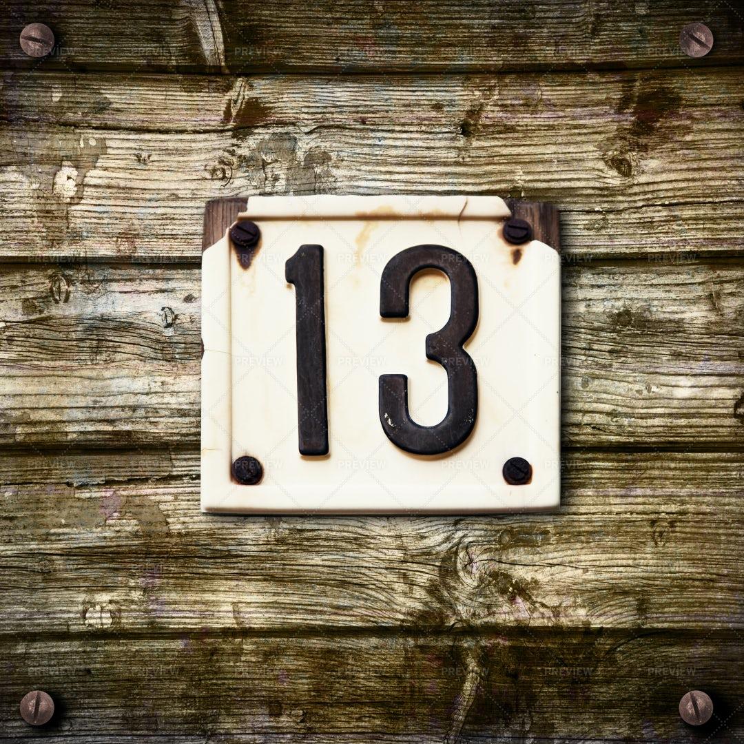 Number 13: Stock Photos