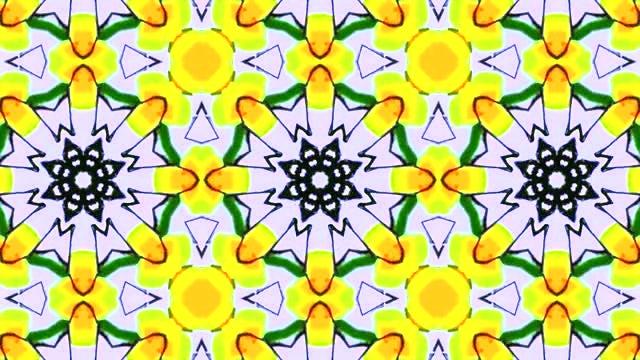 Kaleidoscope Background 4K Loop: Stock Motion Graphics